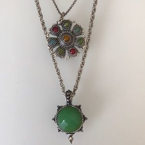 Lucky Layered Gem Necklace